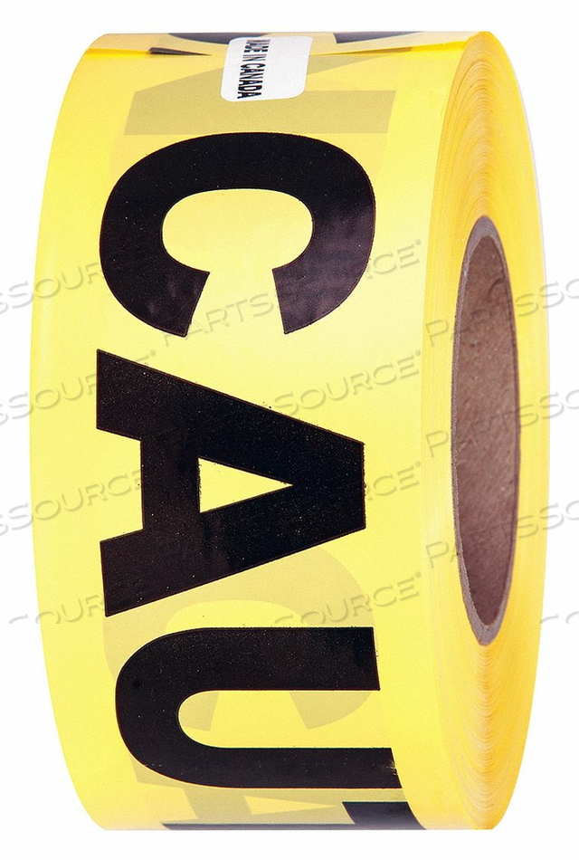 BARRICADE TAPE CAUTION YLLW ROLL 3 by Quest Brands Inc.