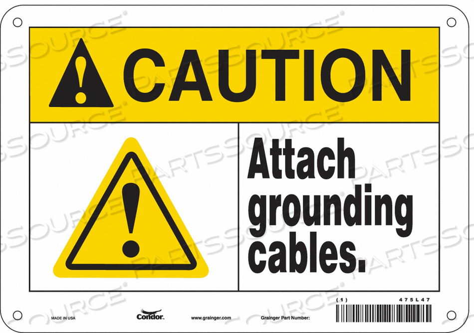 DANGER SIGN 10 WX7 H 0.055 THICKNESS by Condor