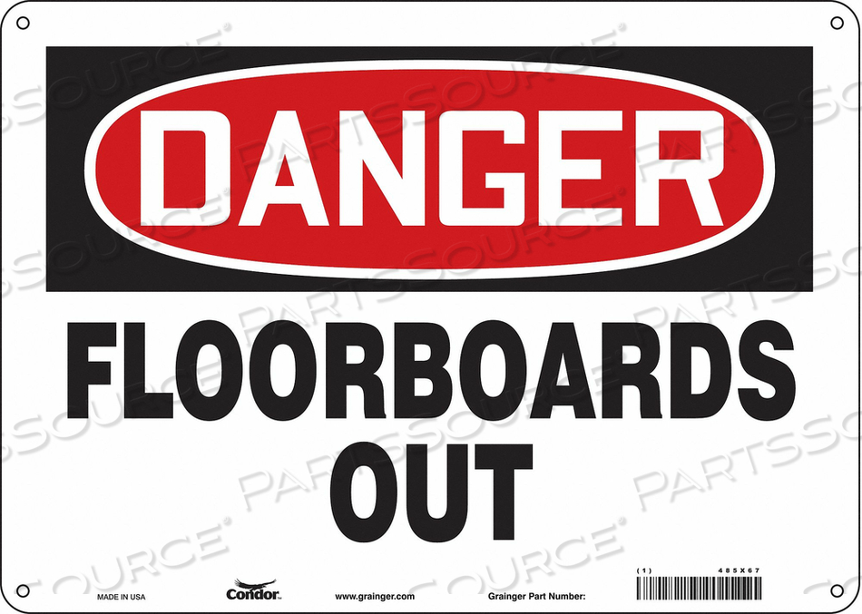 CONSTRUCTION SIGN 14 W 10 H 0.055 THICK by Condor