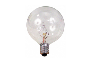 INCANDESCENT LIGHT BULB G16 1/2 25W by GE Lighting