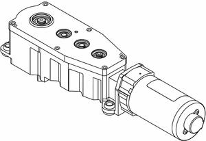 MOTOR GEAR BOX SLVR 16-1/2 IN L RH by LCN