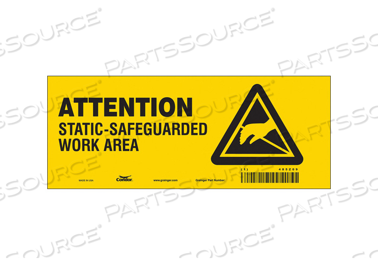 ELECTRICAL SIGN 10 W 4 H 0.004 THICK by Condor