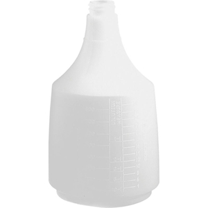 MEGA ROUND BOTTLE WITH SCALE, NATURAL, 36 OZ. by Tolco