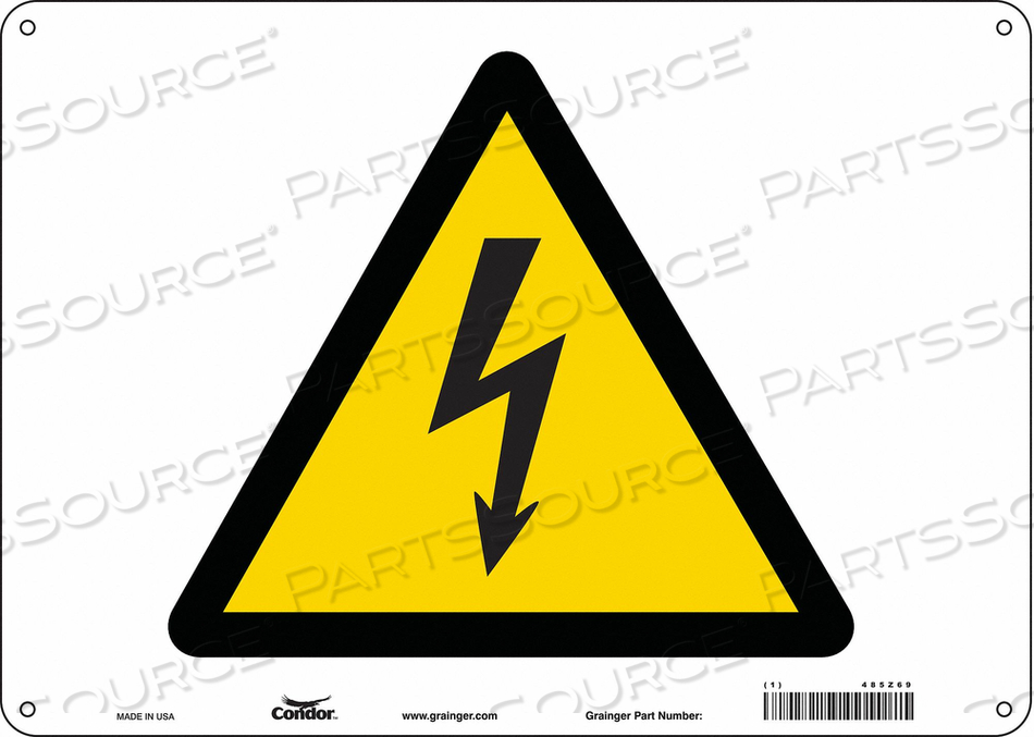 ELECTRICAL SIGN 14 W 10 H 0.060 THICK by Condor