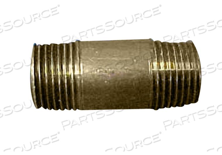 NIPPLE 3/8 X 1-1/2 BRASS by STERIS Corporation
