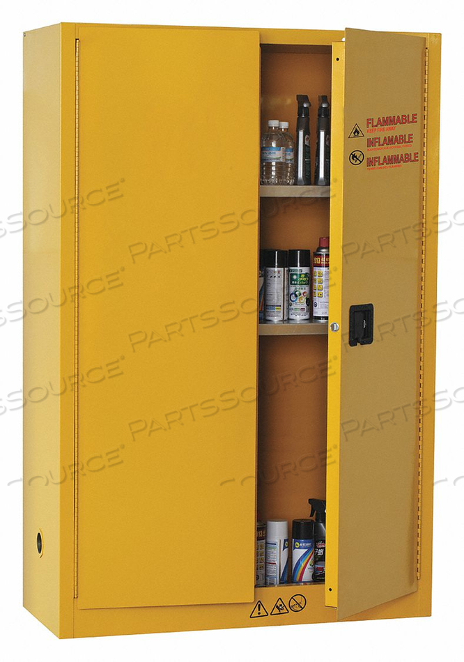 FLAMMABLE SAFETY CABINET 45 GAL. YELLOW by Condor