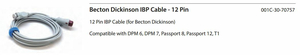 13 FT 12 PIN BECTON DICKINSON IBP CABLE by Mindray North America