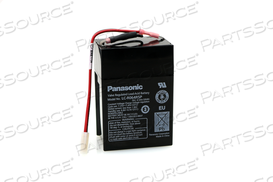 BATTERY, SEALED LEAD ACID, 6V, 4.5 AH