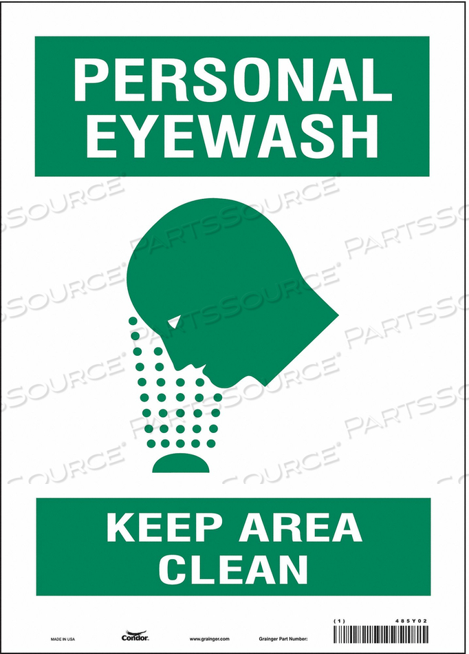 FIRST AID SIGN 10 W 14 H 0.004 THICK by Condor