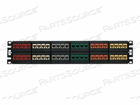 """PANDUIT NETKEY MODULAR FACEPLATE PATCH PANEL - PATCH PANEL - BLACK - 2U - 19"""" - 48 PORTS by Panduit"""