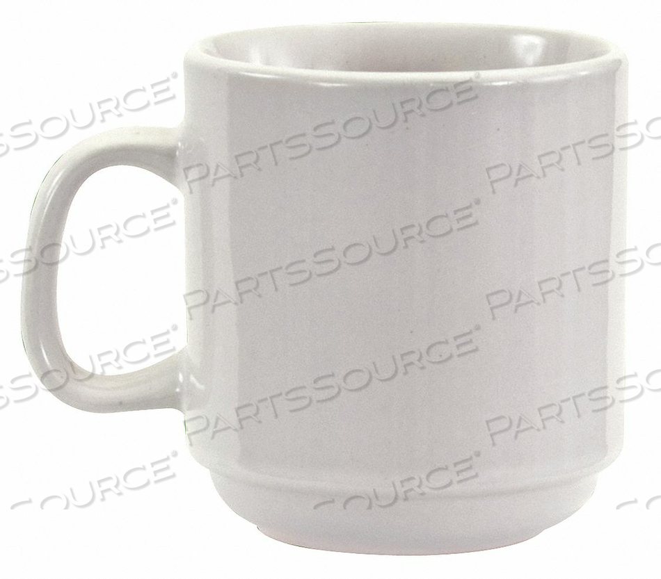 MUG STACKABLE BRIGHT WHITE 10 OZ. PK36 by Crestware