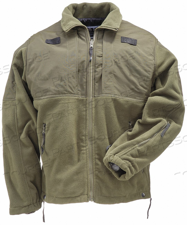 D4716 TACTICAL FLEECE JACKET SHERIFF GREEN S by 5.11 Tactical