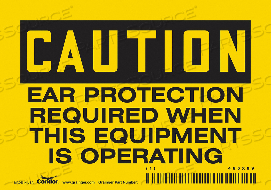 K0276 SAFETY SIGN 5 W 3-1/2 H 0.004 THICKNESS by Condor