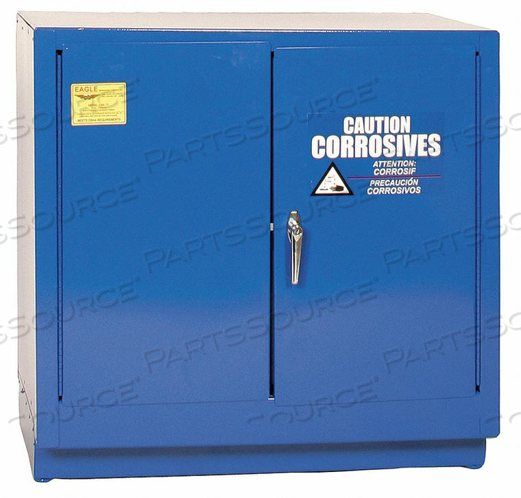 CORROSIVE SAFETY CABINET MANUAL 22 GAL. by Eagle