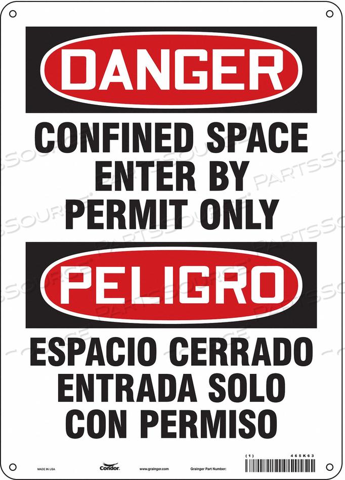 J6917 SAFETY SIGN 14 H 10 W FIBERGLASS by Condor