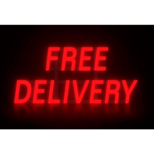 """MYSTIGLO FREE DELIVERY LED SIGN - 28-1/2""""W X 14""""H by CM Global"""