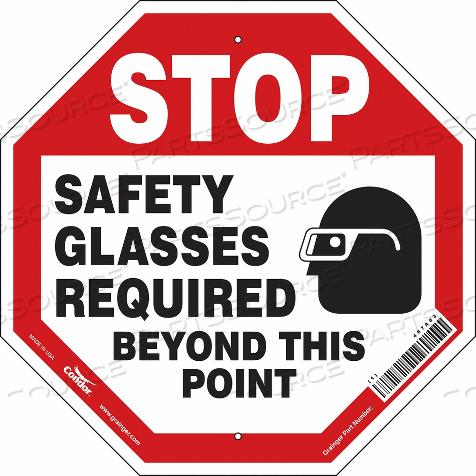 SAFETY SIGN 18 W 18 H 0.032 THICKNESS by Condor