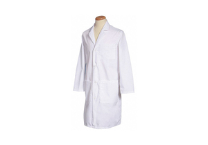 LAB COAT M WHITE 40-3/4 IN L by Fashion Seal
