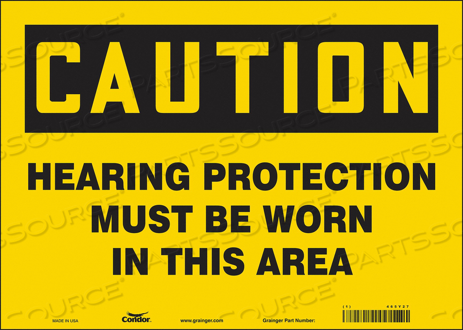 K0282 SAFETY SIGN 14 W 10 H 0.004 THICKNESS by Condor