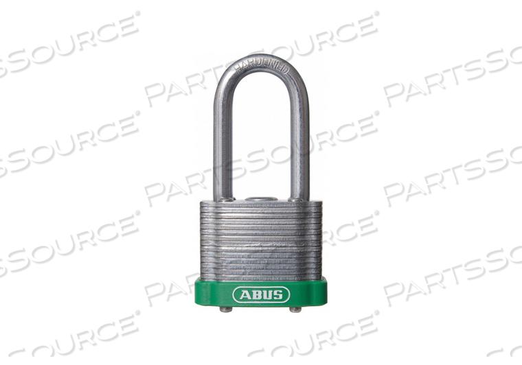 D8957 LOCKOUT PADLOCK KA GREEN 1-3/8 H by Abus