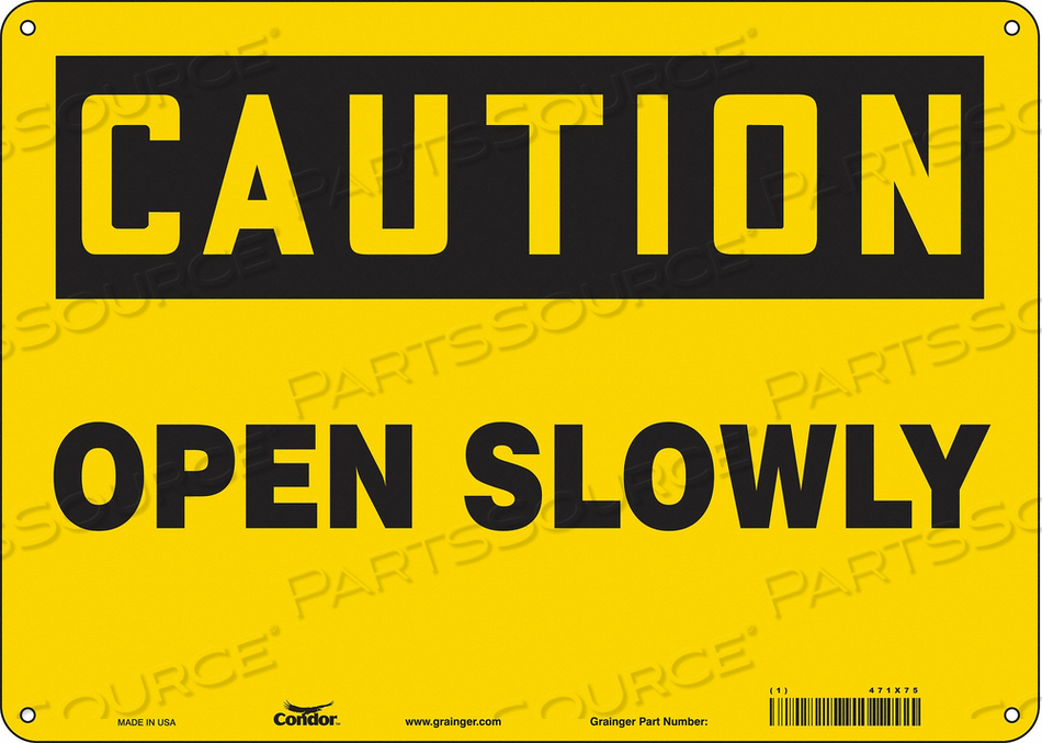 SAFETY SIGN 14 W X 10 H 0.032 THICK by Condor