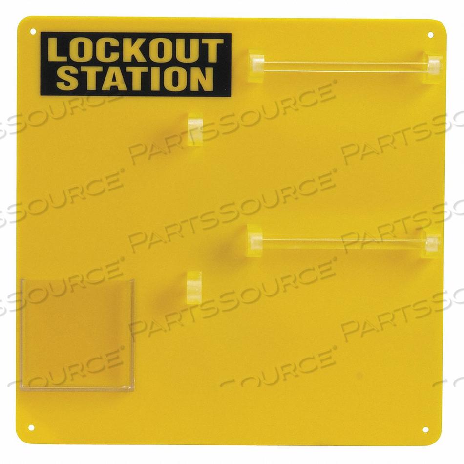 PADLOCK STATION YELLOW 13-1/2 H by Condor