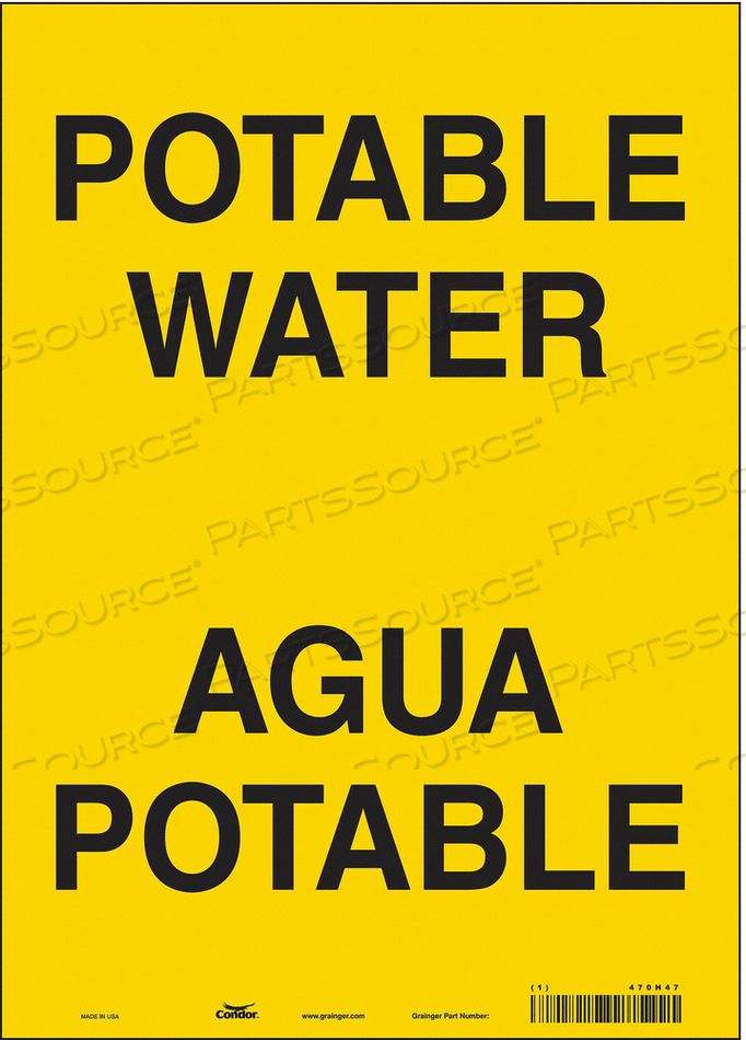 SAFETY SIGN 10 W X 14 H 0.004 THICK by Condor