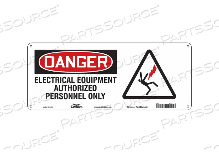 SAFETY SIGN 17 W 7 H 0.060 THICKNESS by Condor