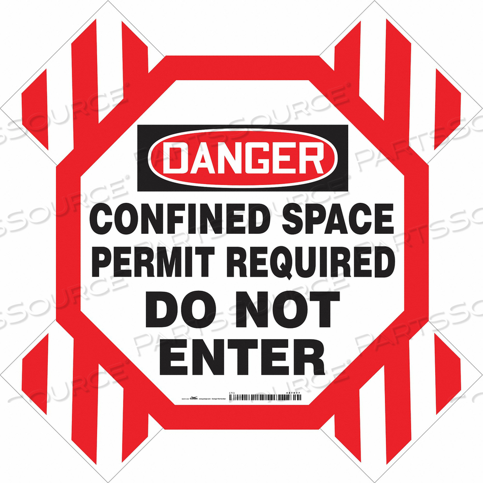 DANGER SIGN 42 W 42 H 0.250 THICKNESS by Condor