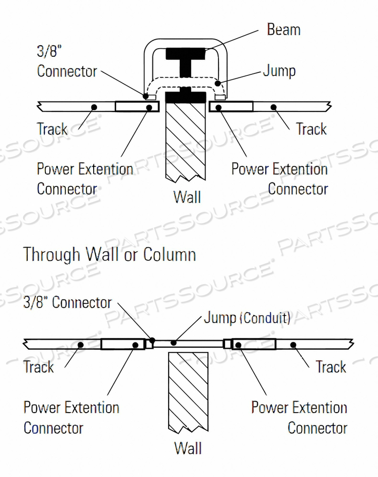 POWER EXTENSION CONNECTOR BLK 2-23/32 L by Lightolier