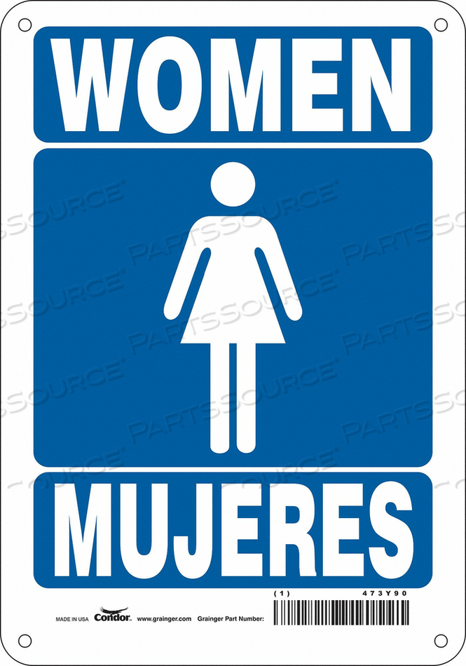 RESTROOM SIGN 7 W 10 H 0.055 THICK by Condor