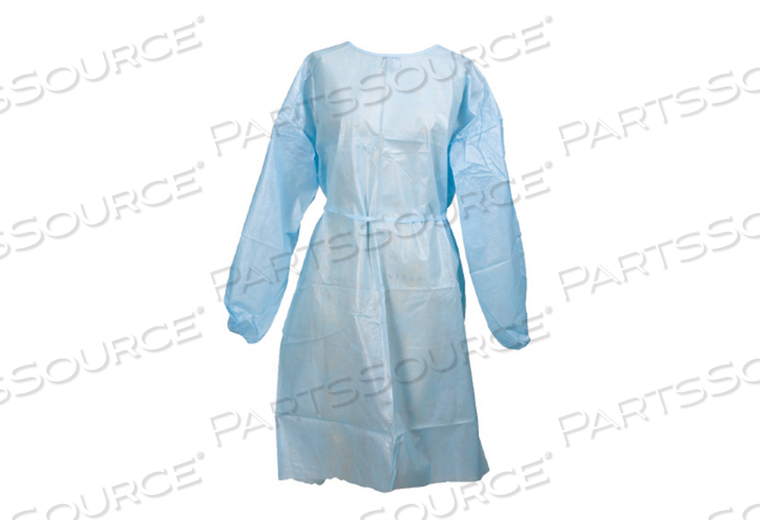 PROTECTIVE PROCEDURE GOWN, ONE SIZE FITS MOST, WHITE, NONSTERILE, DISPOSABLE (50/CS) by McKesson