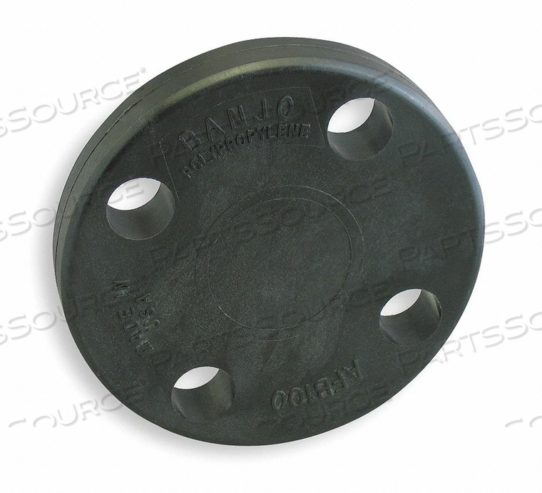 BLIND FLANGE 1 IN CLASS 150 POLY BLACK by Banjo