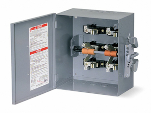 SAFETY SWITCH 240VAC/250VDC 2PST 200A by Square D