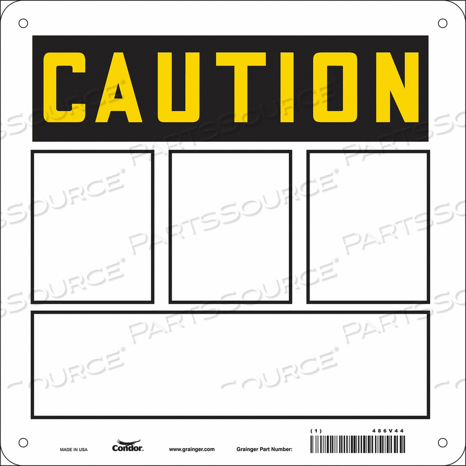 SAFETY SIGN 10 W 10 H 0.032 THICKNESS by Condor
