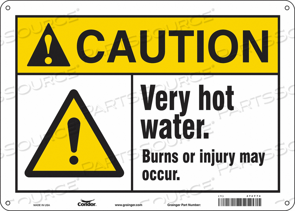 DANGER SIGN 14 W X 10 H 0.032 THICK by Condor