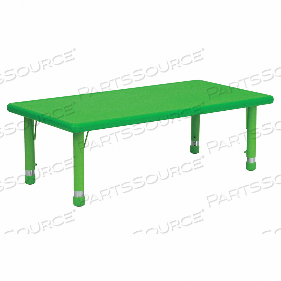 PRESCHOOL ACTIVITY TABLE RECTANGLE GREEN by Flash Furniture