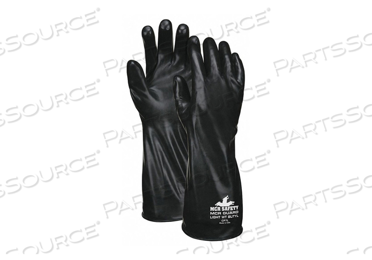CHEMICAL RESISTANT GLOVE M BLACK PR by MCR Safety