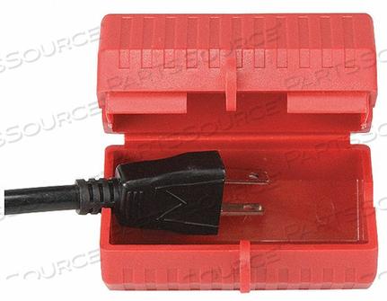 PLUG LOCKOUT RED PLASTIC 1 PADLOCK by Condor