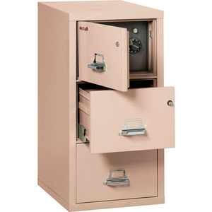 """FIREPROOF 3 DRAWER VERTICAL SAFE-IN-FILE LEGAL 20-13/16""""WX31-9/16""""DX40-1/4""""H CHAMPAGNE by Fire King"""