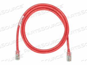 PANDUIT NETKEY - PATCH CABLE - RJ-45 (M) TO RJ-45 (M) - 10 FT - UTP - CAT 5E - IEEE 802.3AF/IEEE 802.3AT/IEEE 802.3BT - SNAGLESS, STRANDED - RED by Panduit