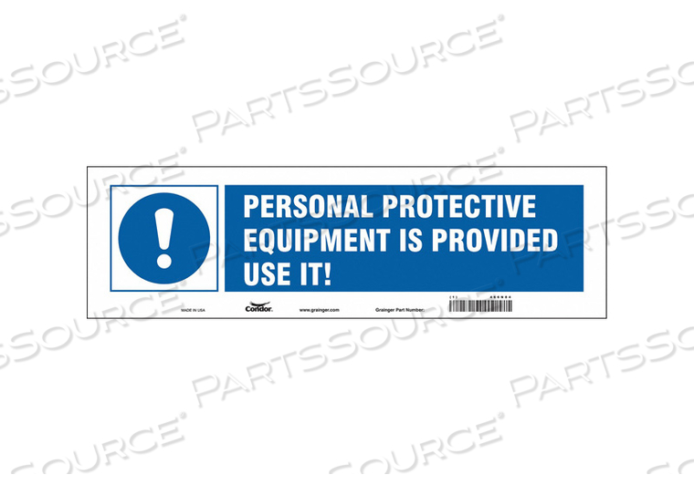 SAFETY SIGN 5 H 17 W VINYL by Condor