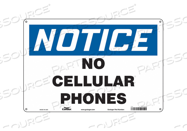 SIGN CELL PHONE 18 W 12 H 0.032 THICK by Condor