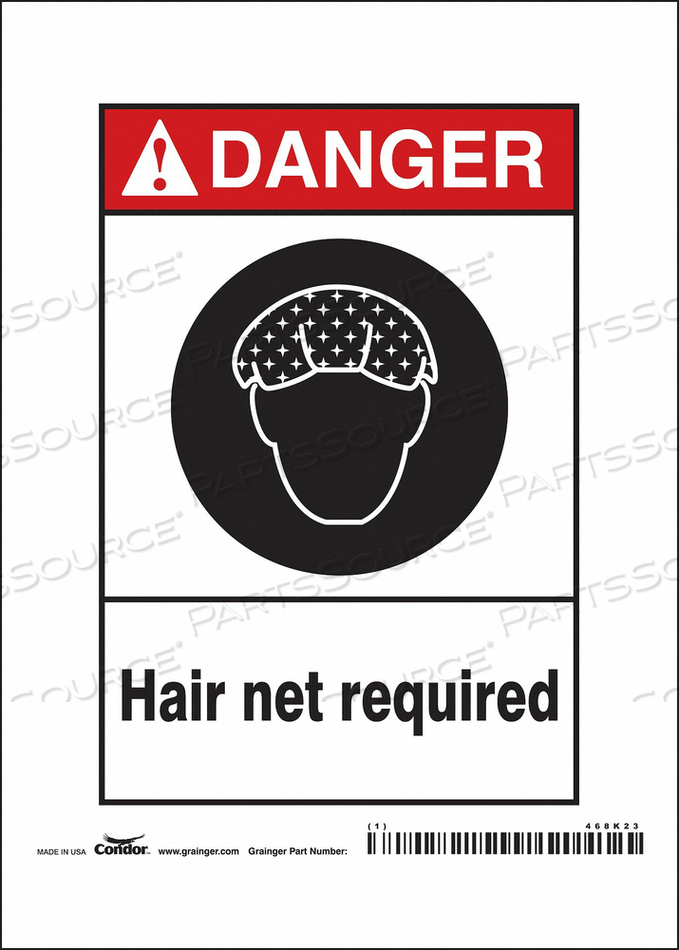 SAFETY SIGN 5 W 7 H 0.032 THICKNESS by Condor