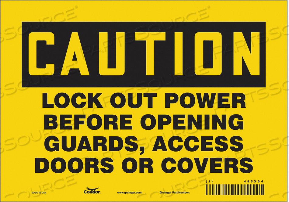 LOCKOUT SIGN 10 W 7 H 0.004 THICKNESS by Condor