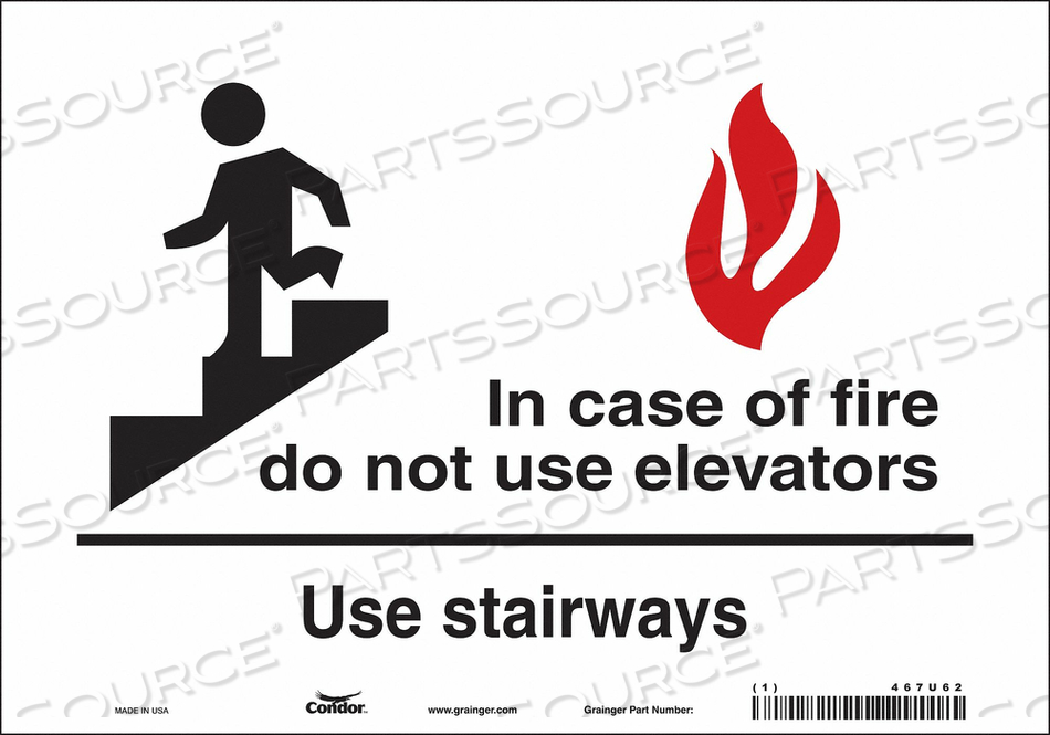 J7009 SAFETY SIGN 7 X10 VINYL by Condor