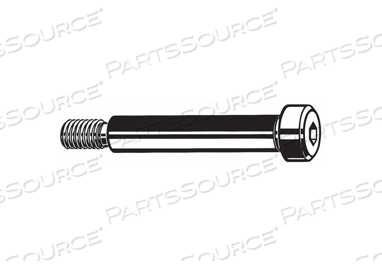 SHOULDER SCREW KNURLED HEX SOCKET PK250 by Fabory