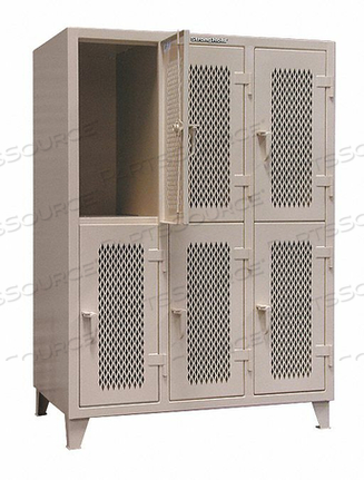WRDRB LOCKR VENT 3 WIDE 2 TIER GRAY by Strong Hold