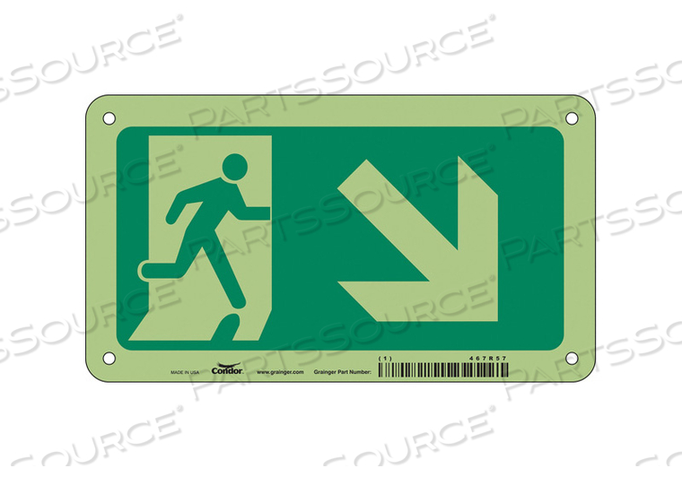SAFETY SIGN 4.5 X8 ALUMINUM by Condor