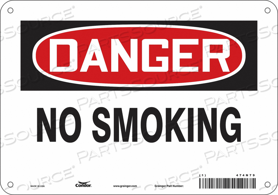 J6937 SAFETY SIGN 10 W 7 H 0.032 THICKNESS by Condor